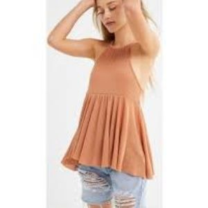 Boho UO Orange High Neck Tank Top